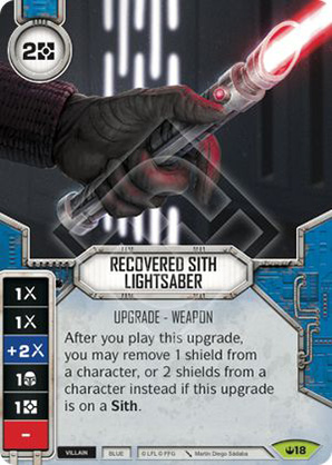 Recovered Sith Lightsaber